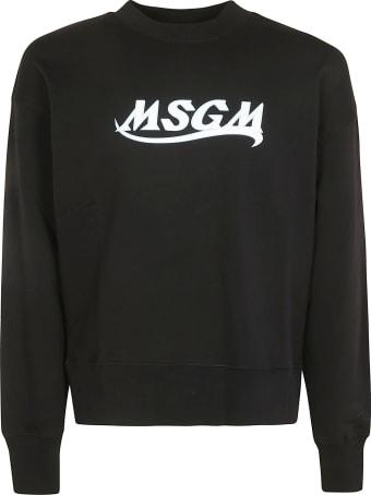 MSGM Chest Logo Print Sweatshirt