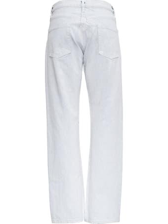 Maison Margiela White Five Pockets Trompe L'oeil Jeans