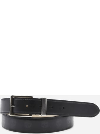 Alexander McQueen Leather Belt With All-over Skull Print