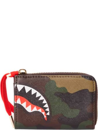 Sprayground Checks & Camouflage Wallet