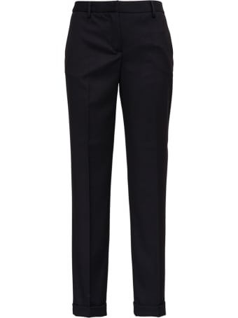 Tonello Black Tailored Pants In Viscose Blend