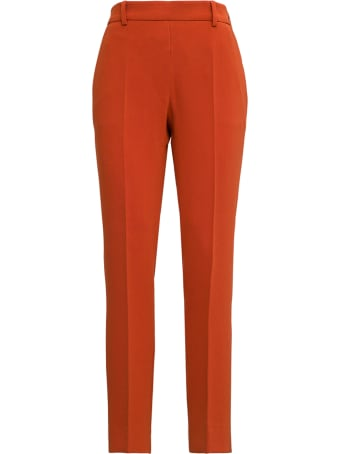 Alberto Biani Orange Cady Pants With Drawstring