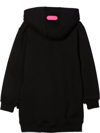 GCDS Black Cotton Hoodie