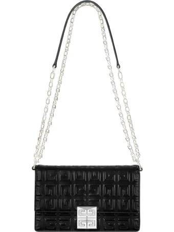 Givenchy 4g Shoulder Bag In Black Leather