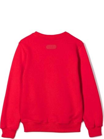 GCDS Red Cotton Sweatshirt