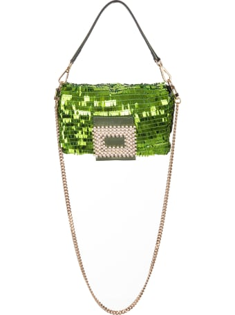 Gedebe My Love Small Bag With Green Sequins
