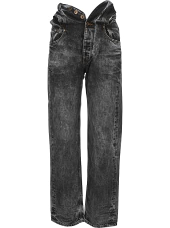 Y/Project Grey Knotted Waist Jeans