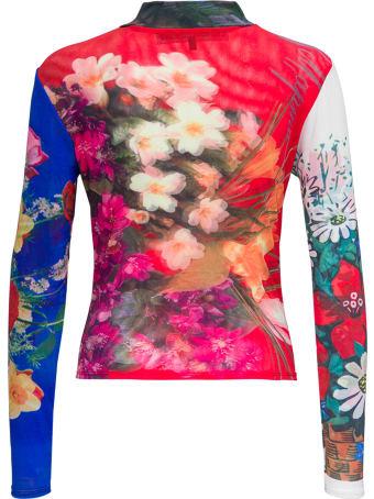 Chopova Lowena Floral Stretch Fabric Top