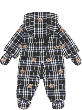 Burberry Black And White Puffer Suit