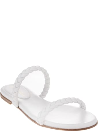 Gianvito Rossi White Marley 05 Flat Sandal