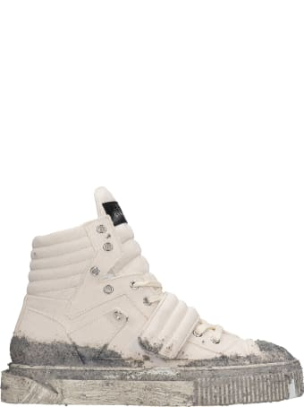 Gienchi Hypnos Sneakers In Beige Canvas