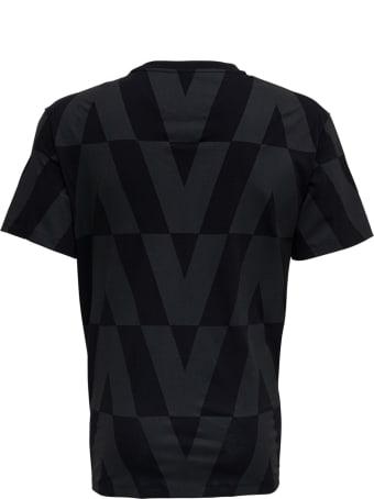 Valentino Macro Optical Black Jersey T-shirt