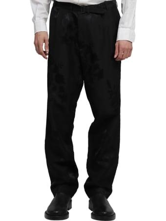 Haider Ackermann Black Floral Trousers
