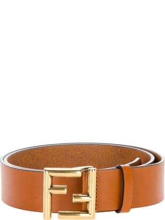 Fendi Natural-coloured Leather Belt