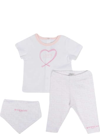 Givenchy White And Pink Baby Suit