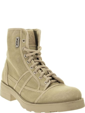 OXS Frank 1020 - Lace-up Ankle Boot In Canvas