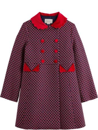 Gucci G Quadro Wool Coat