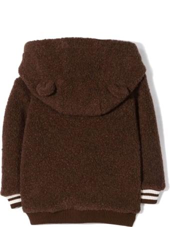 Fendi Brown Teddy Wool/cotton Hoodie