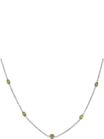 Lo Spazio Jewelry Lo Spazio Yellow Sapphire and Diamond Necklace