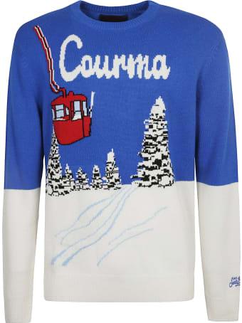 MC2 Saint Barth Colour-block Embroidered Rib Sweater