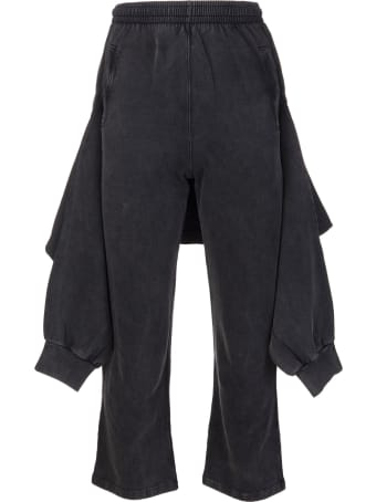 Balenciaga Man Black Knotted Tracksuit Type Pants