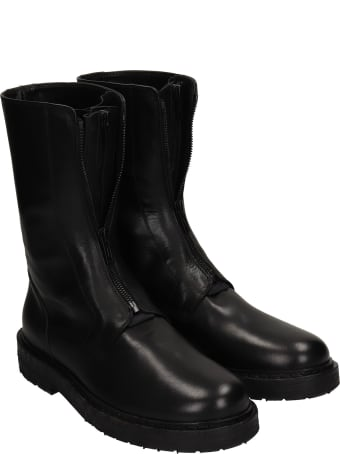 Ann Demeulemeester Willy Combat Boots In Black Leather