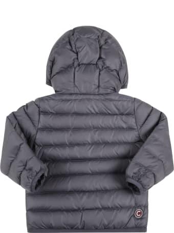 Colmar Grey Jacket For Baby Boy With Logo