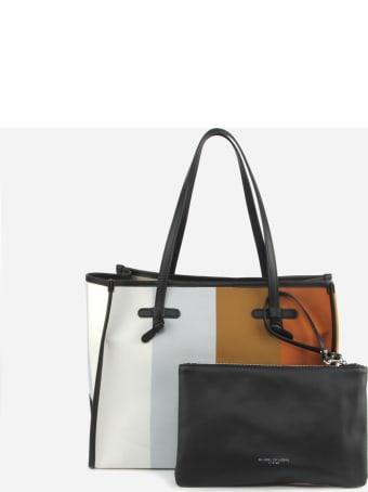 Gianni Chiarini Marcella Shopping Bag In Canvas With Striped Print