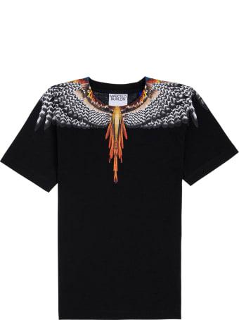 Marcelo Burlon Black Cotton Grizzly Wings T-shirt