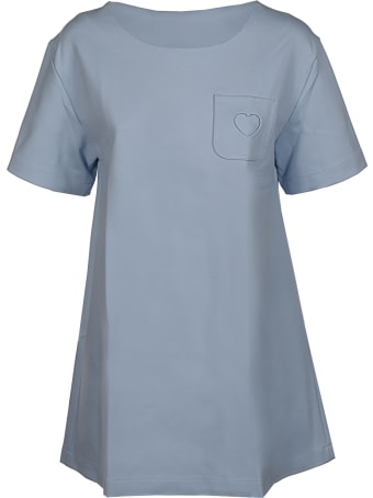 Paskal Mid Sleeve A Line Top With Heart Notch