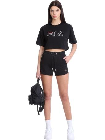 Fila Jamielle T-shirt In Black Cotton