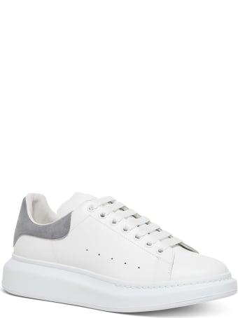 Alexander McQueen Oversize Leather Sneakers With Grey Heel Tab