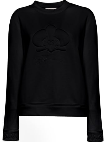 Genny Black Orchid Embossed Cotton Sweater