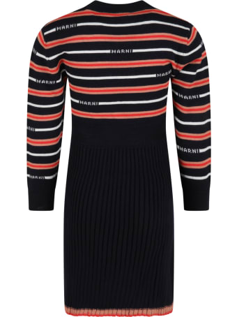 Marni Multicolor Dress For Girl With Logos