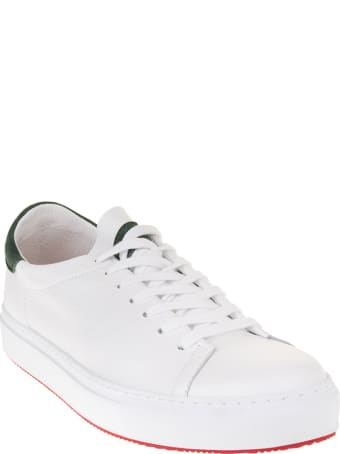 Andrea Ventura Man White And Dark Green Giannutri Sneakers