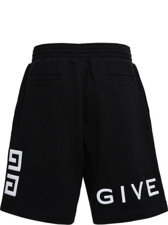 Givenchy Cotton Bermuda Shorts With Logo Print