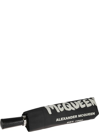 Alexander McQueen Graffiti Logo Umbrella