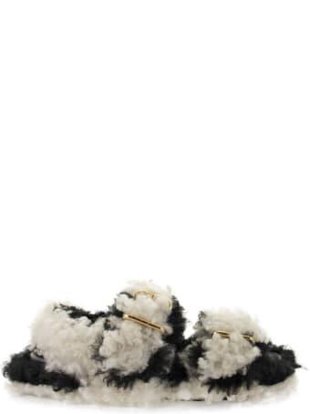 Marni Fussbett - Shearling Buckled Sandals