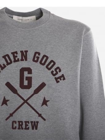 Golden Goose Cotton Sweatshirt With Contrasting Logo