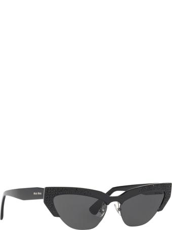 Miu Miu Miu Miu Mu 04us Black Sunglasses
