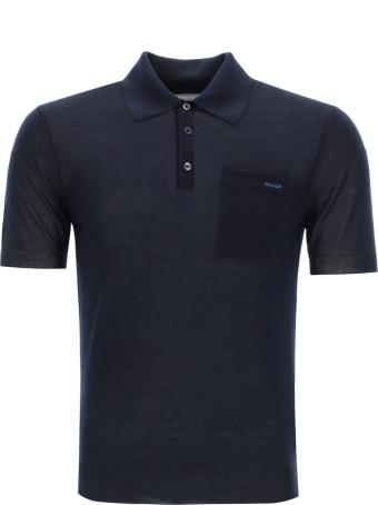 Prada Cashmere Polo Shirt