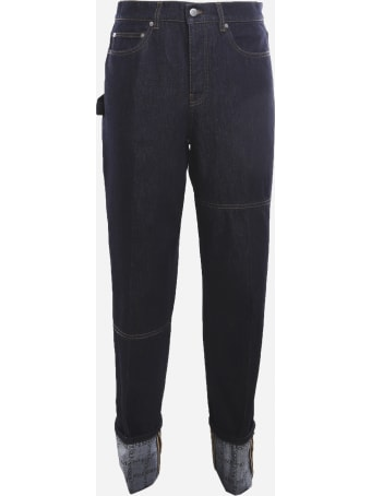 J.W. Anderson Cotton Denim Jeans With Cuffs On The Bottom