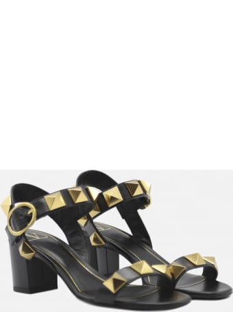 Valentino Garavani Roman Stud Sandals In Leather
