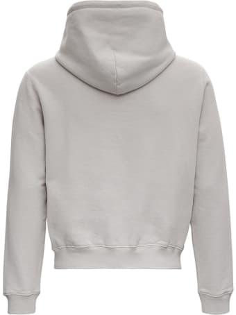 Balenciaga Gray Cotton Shrunk Hoodie