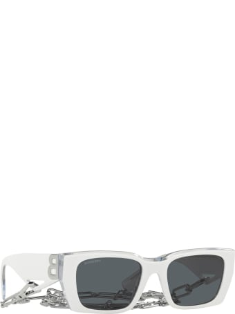 Burberry Burberry Be4336 Top White On Transparent Sunglasses