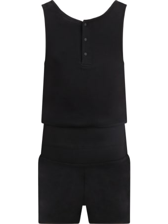 Givenchy Black Jumpsuit For Girl With Logo