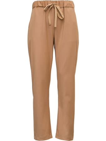SEMICOUTURE Buddy Pants In Brown Wool Blend