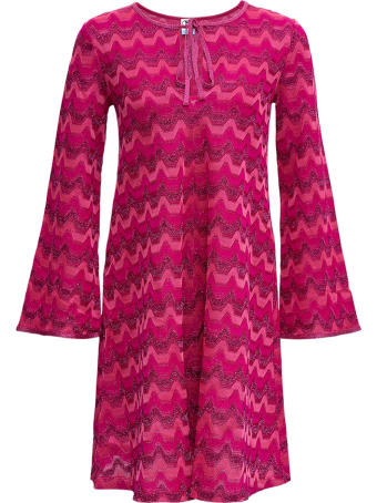 M Missoni Pink Cotton Blend Dress