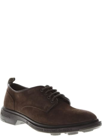 Pezzol 1951 Dark Brown Suede Lace Up Shoes