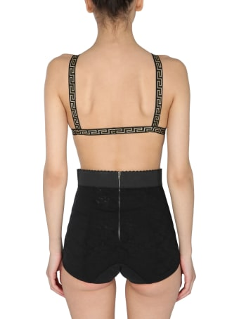 Versace Triangle Bikini With Greek Border